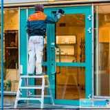 limpeza de fachada de loja Brás